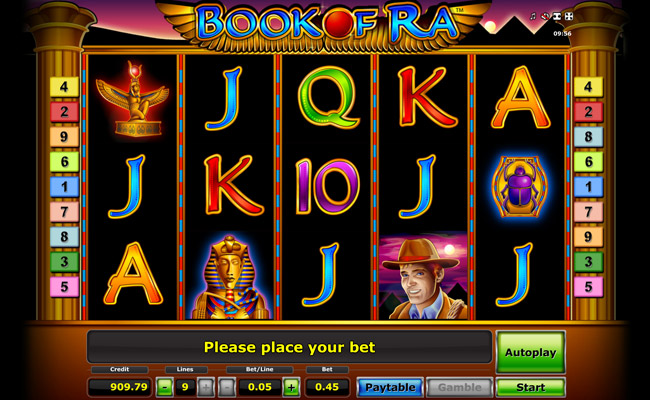 online casino euro slot machine book of ra